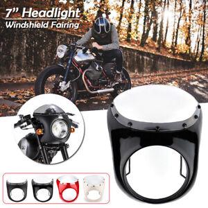 7-039-039-Motorrad-Scheinwerfer-Verkleidung-Lampenmaske-Fuer-Harley-Cafe-Racer-Universal