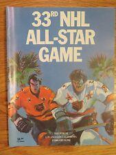 33rd NHL ALL STAR Game Program THE FORUM 1981 Program RAY BOURQUE WAYNE GRETZKY
