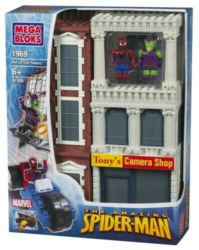 Mega Bloks Spiderman Marvel City City City Towers Camera Shop (40 pcs) ac1261