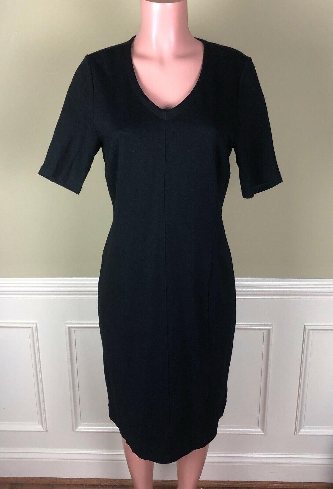 CAbi Claire Black Ponte Knit Sheath Dress Stretch… - image 1