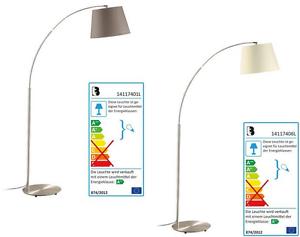 LED Ampelstehleuchte Stehleuchte Leuchte Beistellleuchte Lampenschirm Mattnickel