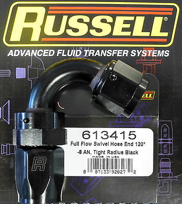Russell 610035 Black 8-AN Full Flow Hose End