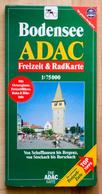 ADAC Karte Bodensee - Freizeit und Radkarte - 1:75000 - wie NEU