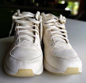 tsubo shinobi mid vintage white leather casual sneakers