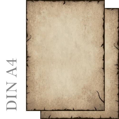 altes Papier antik rustikal Set Motivpapier Briefpapier 50 Blatt A4 50 Kuverts
