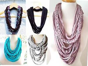 Scarf-Necklace-T-shirt-Yarn-Infinity-Loop-Circle-Scarf-Fabric-Textile-Necklace