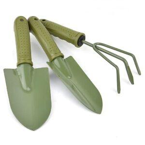 Garden Tool Set (3 Pack) Small Spade Shovel Rake Heavy Duty Gardening Tools
