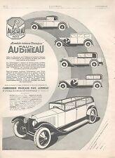 ▬► PUBLICITE ADVERTISING AD CAR VOITURE PAUL AUDINEAU CARROSSERIE FRANCAISE 1926