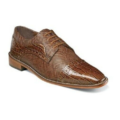 Mens Shoes Stacy Adams Rodrigo Leather Sole Cap Toe Oxford Mustard 25168-701 W