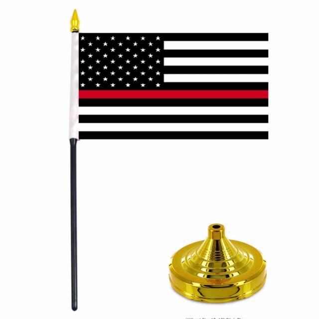 President Donald Trump Make America Great Again Red 4x6 Flag Desk Set Table Stick Black Staff Black Base