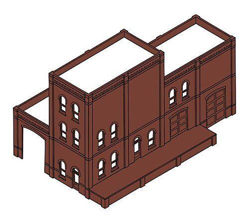 Woodland Scenics DPM - 4 In 1 Modular Kit Industry Warehouse Kit HO Scale 35300