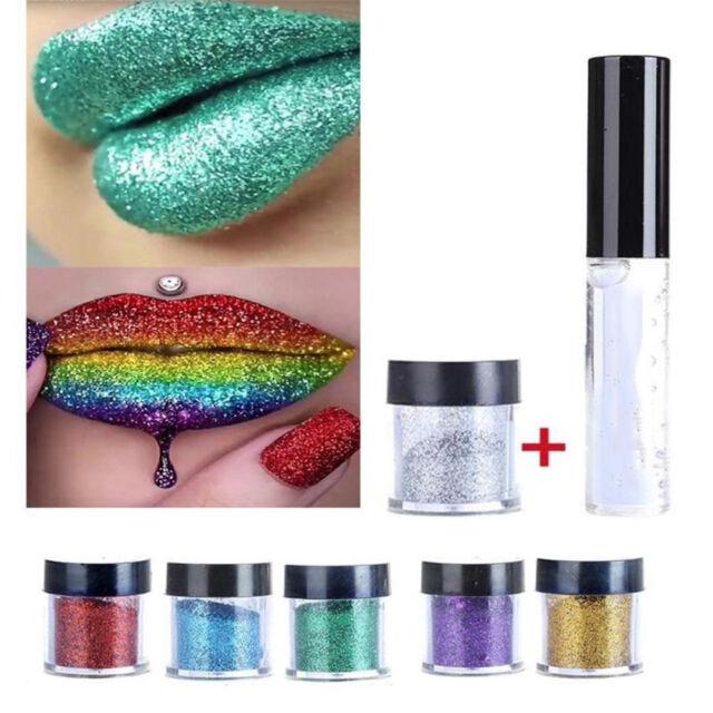 5g Beauty Glitter Powder Dust Eyeshadow Makeup Eye Shadow Lip Pigment +10ml Glue