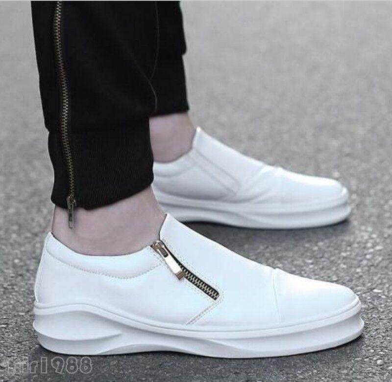 Men slip on zipper casual sport sneakers dress formal shoes Sport sneakers shoes