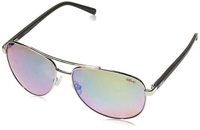 0c4216960a REVO Re 5021 04 GN Shaw Polarized Aviator Sunglasses Shiny Gold 61 ...