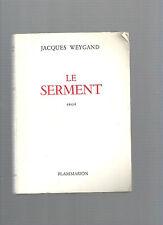 Le serment Jacques Weygand REF E14