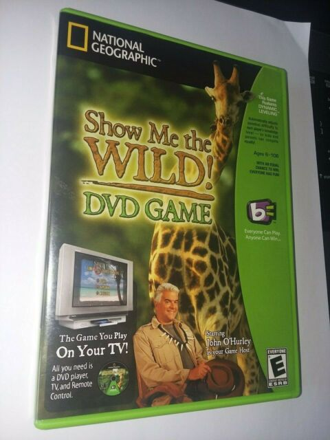 SHOW ME THE WILD DVD Game w John O'Hurley National Geographic with Booklet. 2005