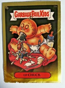 GARBAGE-PAIL-KIDS-23A-UP-CHUCK-FOIL-STICKER-CARD-WITH-CONTEST-amp-CASE-GPK-15