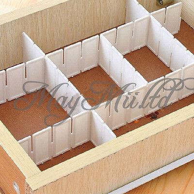 Hot 6Pcs DIY Grid Drawer Divider Household Necessities Storage Organizer