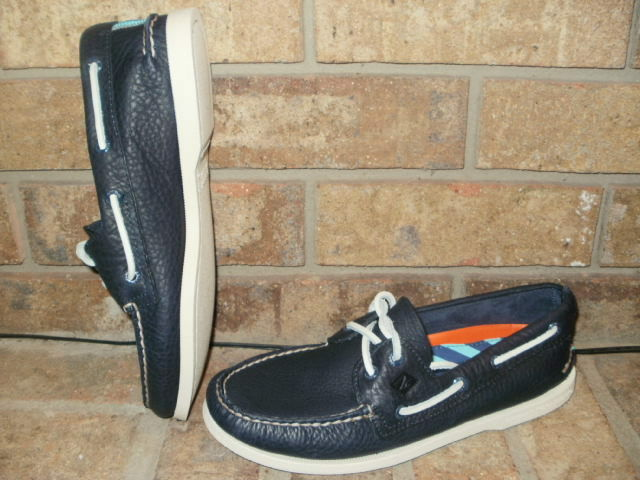 New Sperry Top-Sider Men A O 2-Eye Daytona Leather Boat shoes  STS17045-Navy