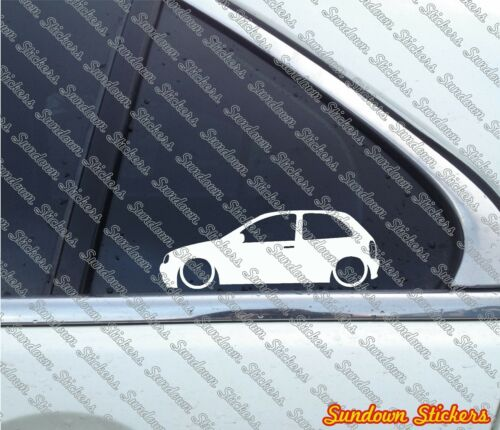 2x Lowered car stickers 3-Door for Opel Corsa B GSi