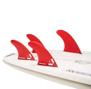 Dorsal-Surfboard-Fins-Hexcore-Quad-Set-4-Honeycomb-FUT-Base-Red