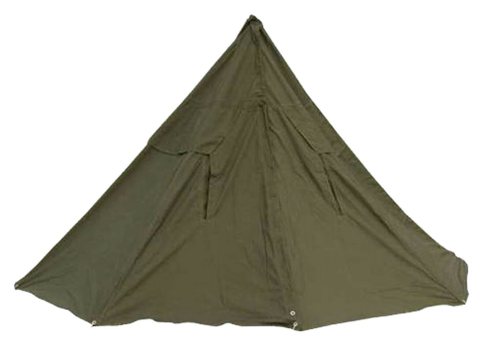 Polish Army Cotton Canvas Bell 2 2 2 Men Olive Drab Tent Ponchos with Pegs & Poles ae8349