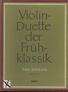 Violin-Duette-der-Fruehklassik-Band-1-herausgegeben-von-Paul-BORMANN