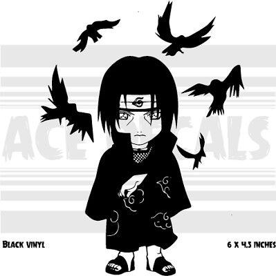 Naruto Sasuke Itachi Crows Chibi Anime Laptop Car Vinyl Decal Sticker Ebay