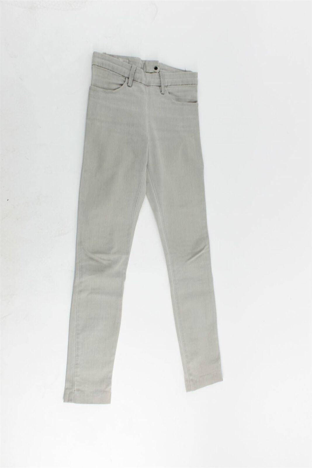 Acne Skin grau Cotton Blend High-Rise Jeans, UK 8 US 4 EU 36