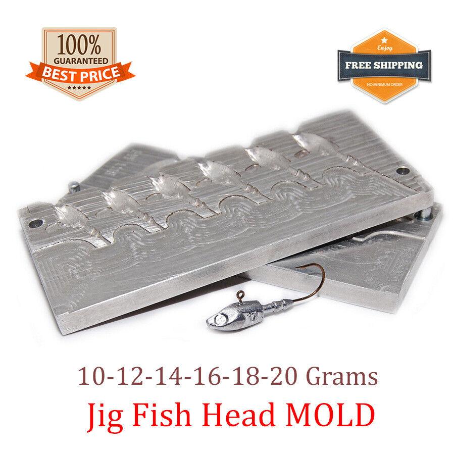 Fishing Fish Head JigHead Mold Lead Jig Sinker Weights Weights Sinker 6 cavity (10 - 20 G) 350352