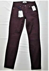 Paige scuro Verdugo Sz lavaggio Ankle u Vamp Stretch Womens rosso 24 p Jeans Nwt rTXr16