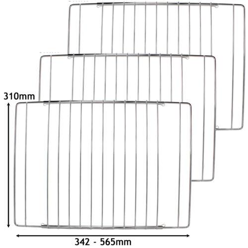 3 x Ripiani Regolabili Cromato Forno Grill Ripiano si adatta a cottura NEW WORLD 345-565mm