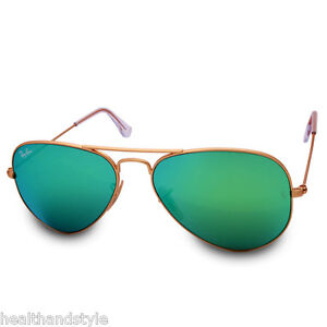 Ray Ban RB3025 112 19 Aviator Gold Frame Green Mirror Sunglasses ... 4090f8eb06a