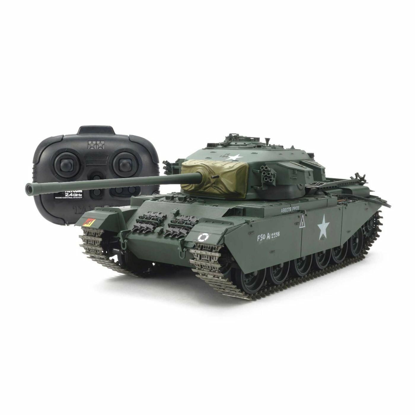 Tanque de Tamiya  RC serie No.4 Centurión Mk. III con transmisor 56604