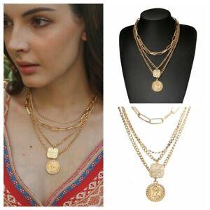 Women-Ethnic-Gypsy-Bohemian-Tribal-Boho-Coin-Statement-Necklace-Pendant-Gift