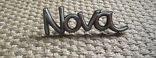 "Chevrolet ""Nova"" Script Emblem GM OEM Badge Muscle Car Nameplate Chrome Old Rare"