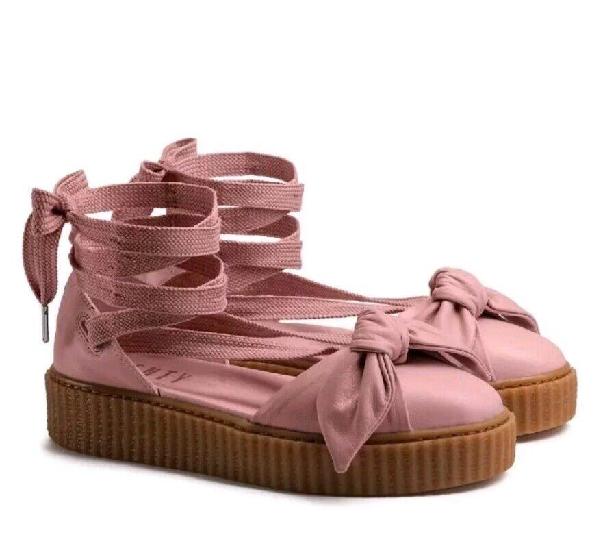 140 Fenty Puma By Rihanna Donna Bow Creeper Sandal Pink (365794-01) Sz 7.5