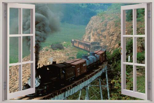 Cheap 3D Fenêtre Vue Casey Jones TRAIN Wall Sticker Mural Art Decal 146