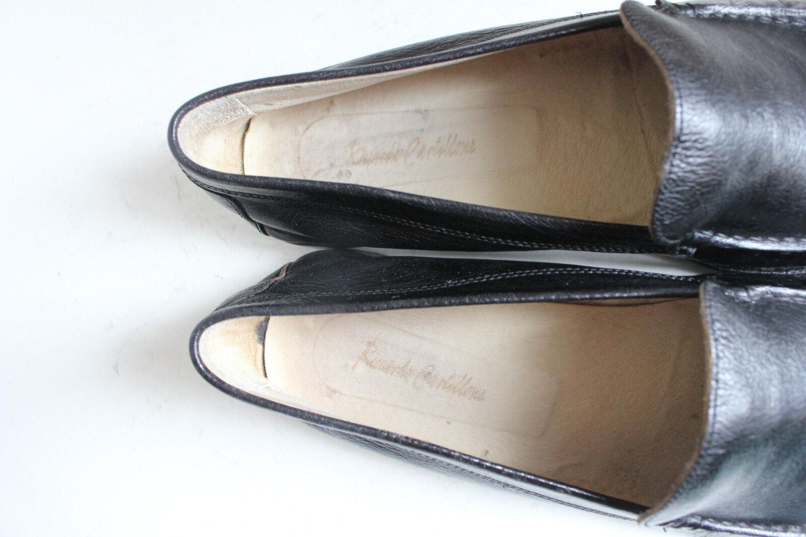Riccardo Schuhe Cartillone Elegante Luxus Slipper Schuhe Riccardo Voll Echtleder Schwarz 44-44,5 d86d2f