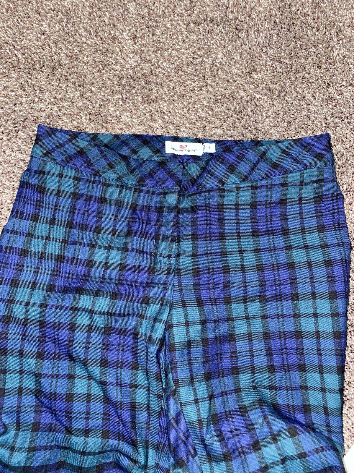Womens Vineyard Vines Plaid Pants Size 2 Dress Pa… - image 4