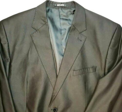 Tandogan Ricano Mens 60 Black Blazer Suit Jacket S