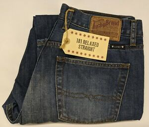 NWT-Lucky-Brand-181-Relaxed-Straight-Leg-Mens-Blue-Jeans-Various-Sizes-FREE-SHIP