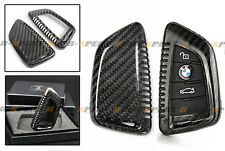 LUXURY CARBON FIBER SNAP ON HARD CASE FOR BMW X5 X6 X5M X6M SMART KEY FOB REMOTE