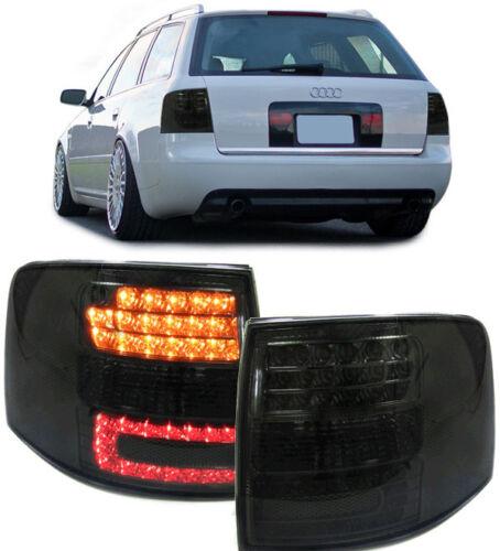 LED Rückleuchten schwarz für Audi A6 Avant Kombi 97-04