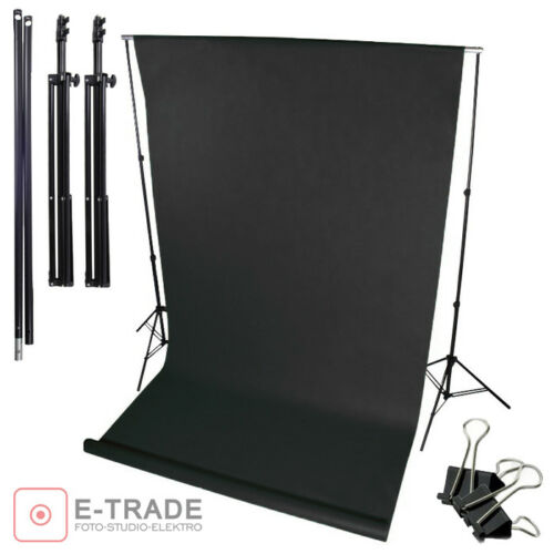 "BLACK Backdrop 63/"" x 197/"" Set Background Stand Kit Photography Photo Studio"