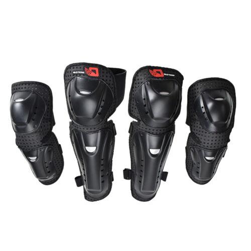 4pcs Ellenbogen Knie Schienbeinschutz Pads Kit für ATV Motocross Motorrad