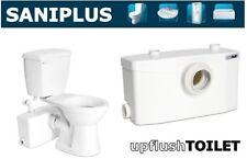 Saniflo SaniPLUS   Macerating Upflush Toilet Kit   Pump + Elongated Bowl