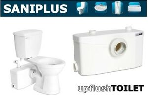 Saniflo Saniplus Macerating Upflush Toilet Kit Pump Elongated Bowl Ebay