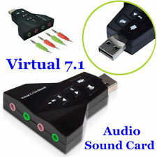 External 3D Virtual 7.1 Ch HD Sound USB Audio Card Mic Adapter PC Laptop Desktop