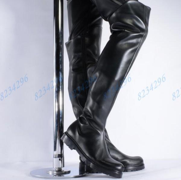 Männer Lange Stiefel Pole Dance Reitstiefel Stiefel Herrenstiefel Punk